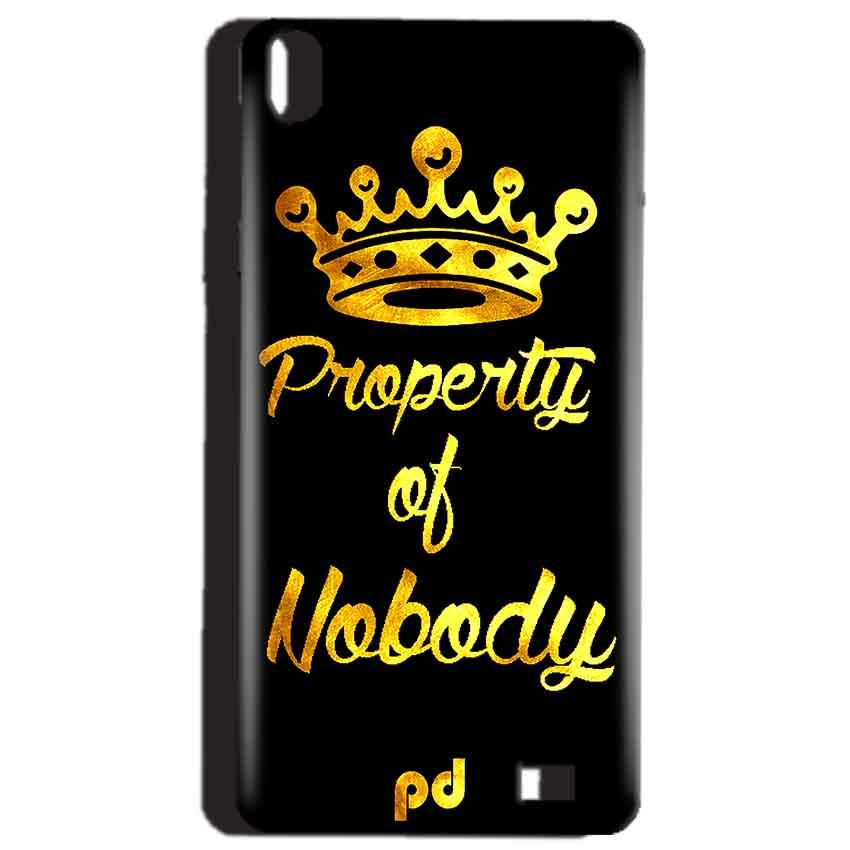 Reliance Lyf Water 4 Mobile Covers Cases Property of nobody with Crown - Lowest Price - Paybydaddy.com