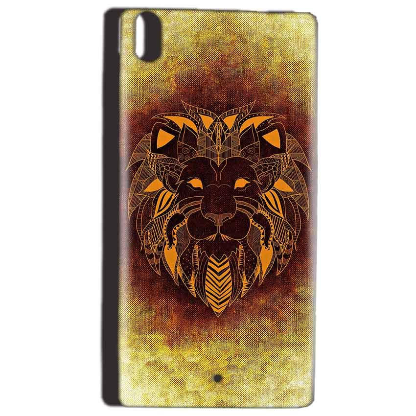 Reliance Lyf Water 5 Mobile Covers Cases Lion face art - Lowest Price - Paybydaddy.com