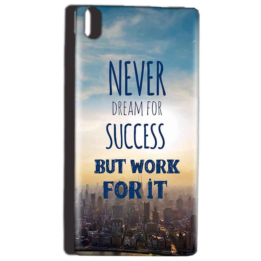 Reliance Lyf Water 5 Mobile Covers Cases Never Dreams For Success But Work For It Quote - Lowest Price - Paybydaddy.com