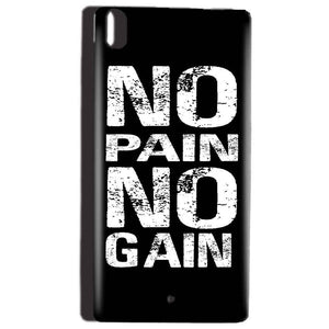 Reliance Lyf Water 5 Mobile Covers Cases No Pain No Gain Black And White - Lowest Price - Paybydaddy.com