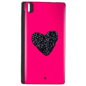 Reliance Lyf Water 5 Mobile Covers Cases Pink Glitter Heart - Lowest Price - Paybydaddy.com