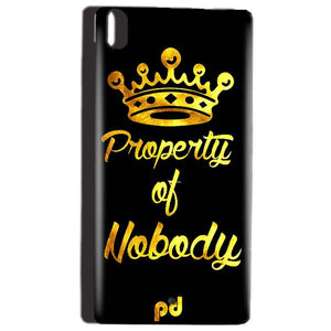 Reliance Lyf Water 5 Mobile Covers Cases Property of nobody with Crown - Lowest Price - Paybydaddy.com