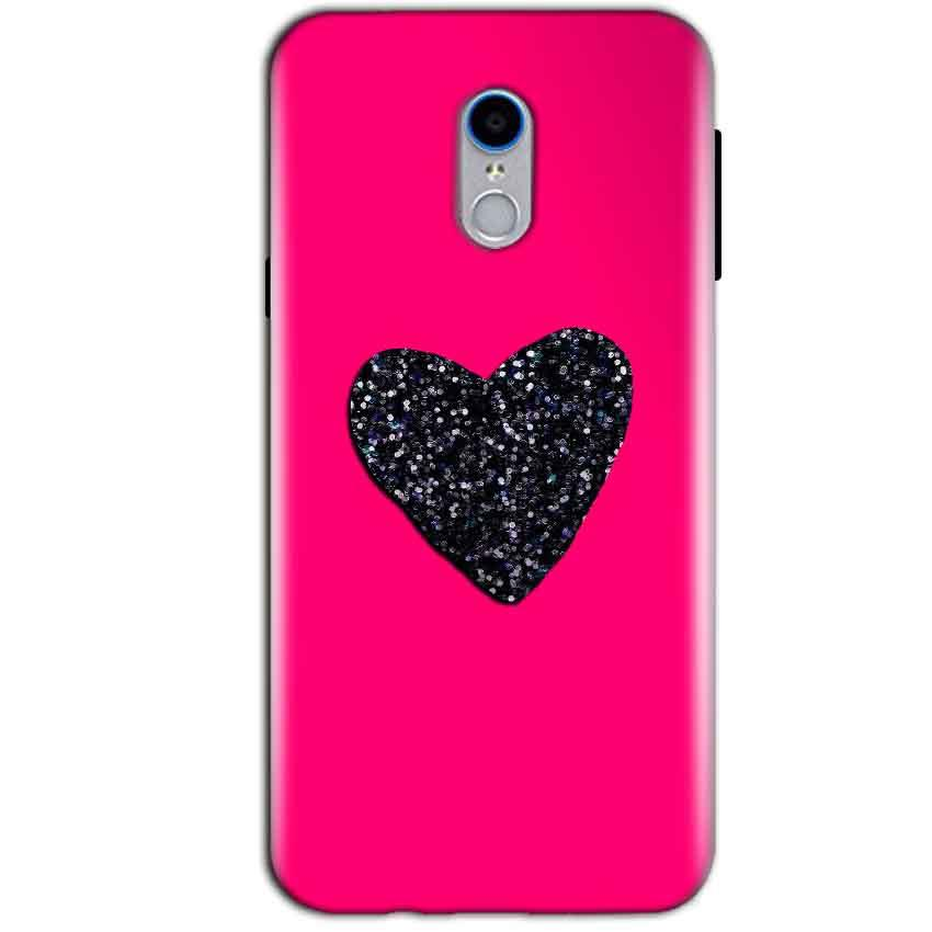 Reliance Lyf Water 7 Mobile Covers Cases Pink Glitter Heart - Lowest Price - Paybydaddy.com