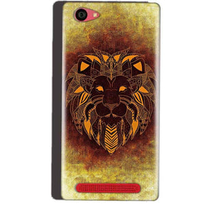 Reliance Lyf Wind 7 Mobile Covers Cases Lion face art - Lowest Price - Paybydaddy.com