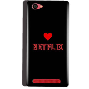 Reliance Lyf Wind 7 Mobile Covers Cases NETFLIX WITH HEART - Lowest Price - Paybydaddy.com