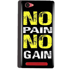 Reliance Lyf Wind 7 Mobile Covers Cases No Pain No Gain Yellow Black - Lowest Price - Paybydaddy.com