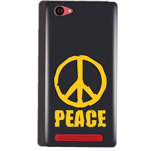 Reliance Lyf Wind 7 Mobile Covers Cases Peace Blue Yellow - Lowest Price - Paybydaddy.com