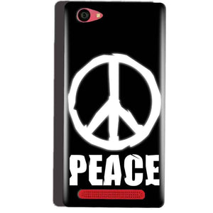 Reliance Lyf Wind 7 Mobile Covers Cases Peace Sign In White - Lowest Price - Paybydaddy.com
