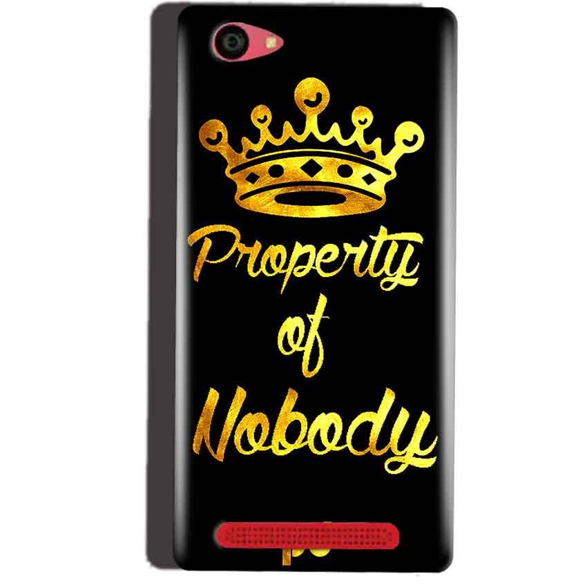 Reliance Lyf Wind 7 Mobile Covers Cases Property of nobody with Crown - Lowest Price - Paybydaddy.com