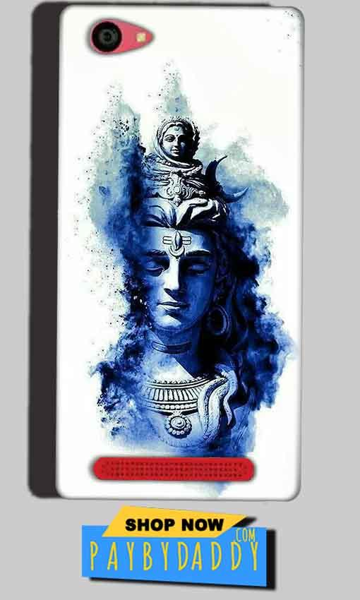 Reliance Lyf Wind 7 Mobile Covers Cases Shiva Blue White - Lowest Price - Paybydaddy.com