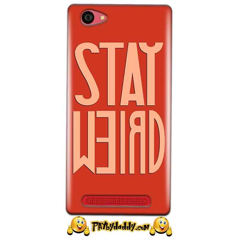 Reliance Lyf Wind 7 Mobile Covers Cases Stay Weird - Lowest Price - Paybydaddy.com
