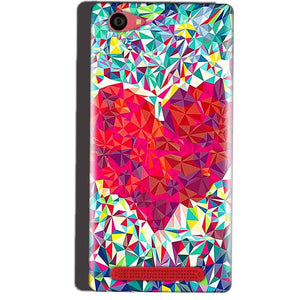 Reliance Lyf Wind 7 Mobile Covers Cases heart Prisma design - Lowest Price - Paybydaddy.com