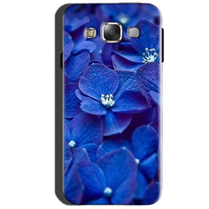 SAMSUNG GALAXY E7 Mobile Covers Cases Blue flower - Lowest Price - Paybydaddy.com