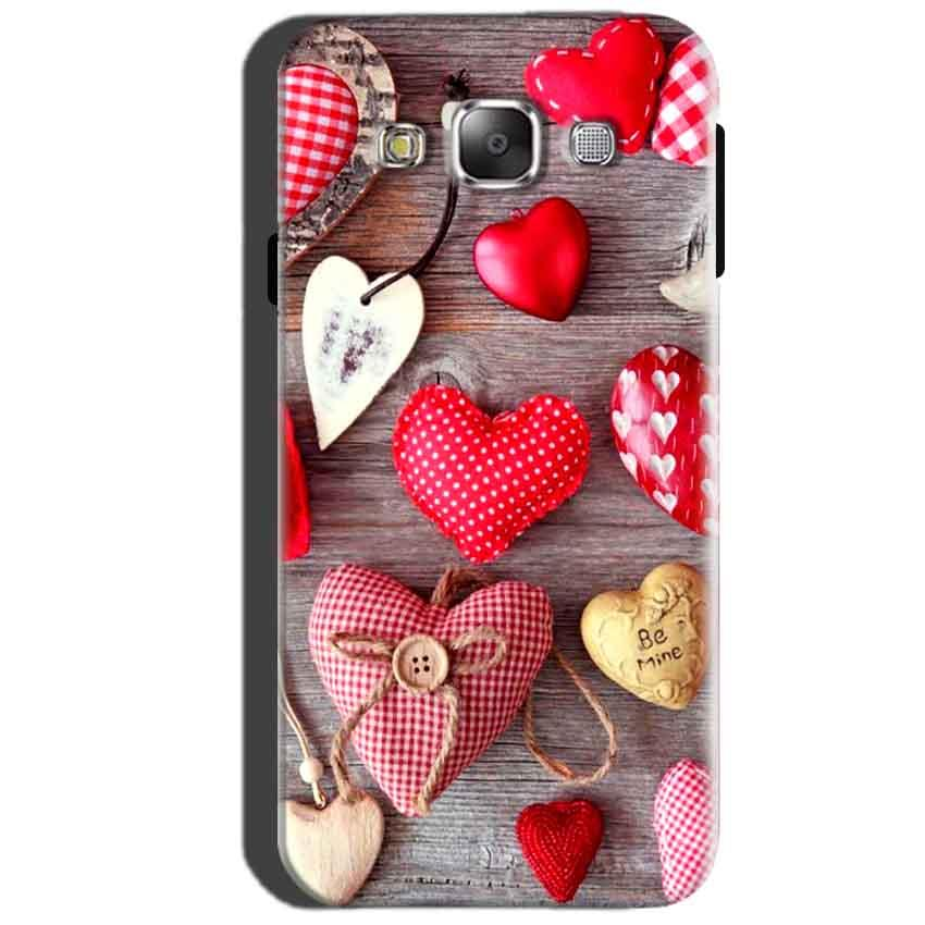 SAMSUNG GALAXY E7 Mobile Covers Cases Hearts- Lowest Price - Paybydaddy.com