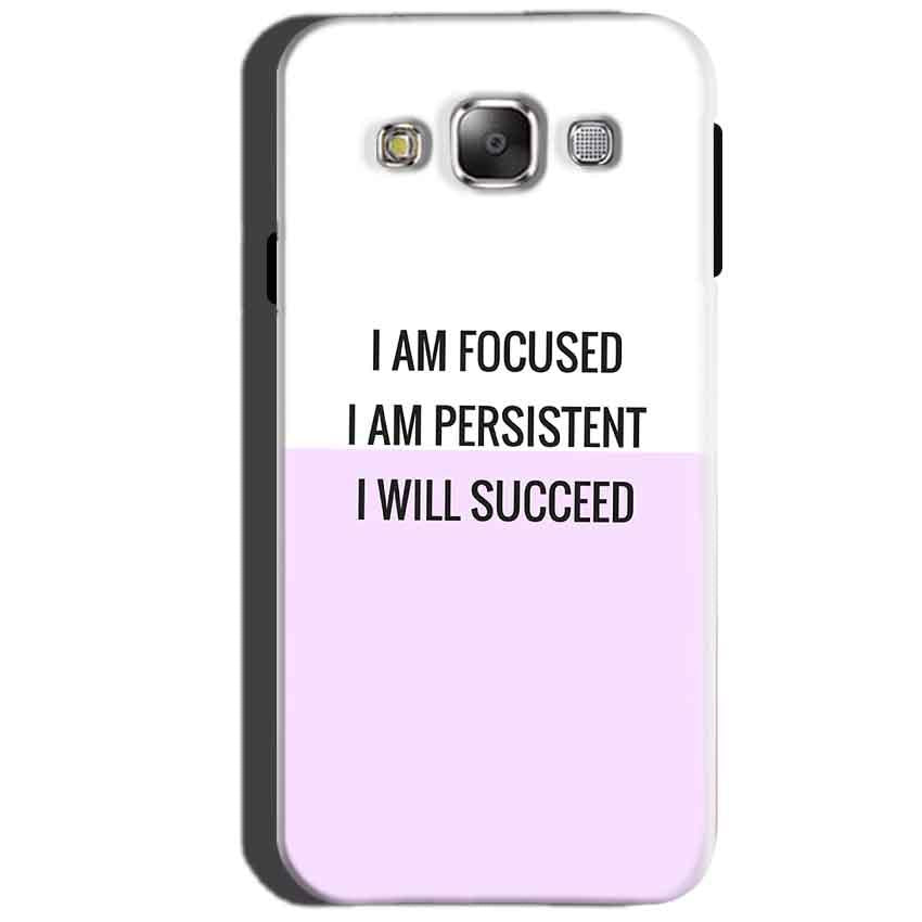 SAMSUNG GALAXY E7 Mobile Covers Cases I am Focused - Lowest Price - Paybydaddy.com
