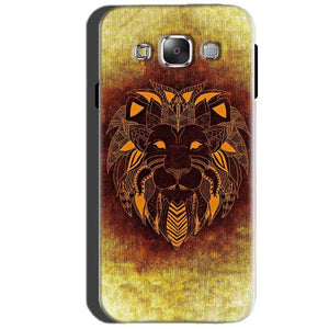 SAMSUNG GALAXY E7 Mobile Covers Cases Lion face art - Lowest Price - Paybydaddy.com