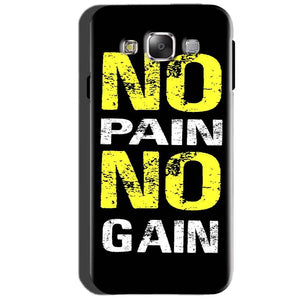 SAMSUNG GALAXY E7 Mobile Covers Cases No Pain No Gain Yellow Black - Lowest Price - Paybydaddy.com