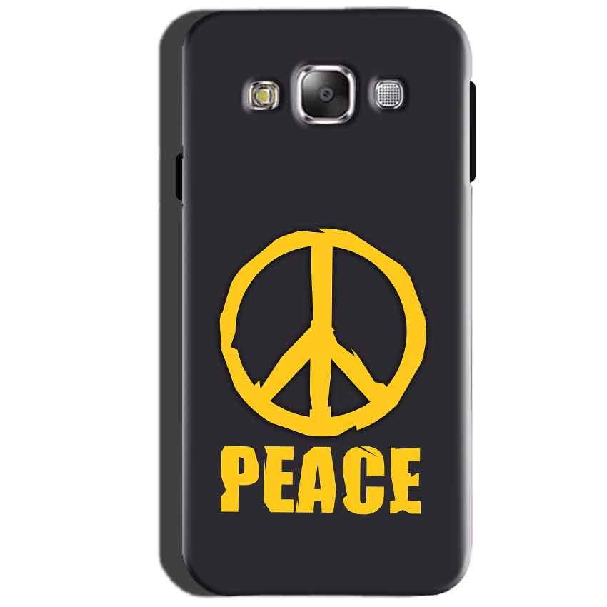 SAMSUNG GALAXY E7 Mobile Covers Cases Peace Blue Yellow - Lowest Price - Paybydaddy.com