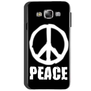 SAMSUNG GALAXY E7 Mobile Covers Cases Peace Sign In White - Lowest Price - Paybydaddy.com