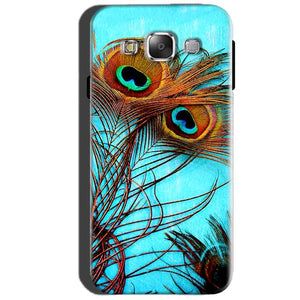 SAMSUNG GALAXY E7 Mobile Covers Cases Peacock blue wings - Lowest Price - Paybydaddy.com