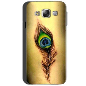 SAMSUNG GALAXY E7 Mobile Covers Cases Peacock coloured art - Lowest Price - Paybydaddy.com