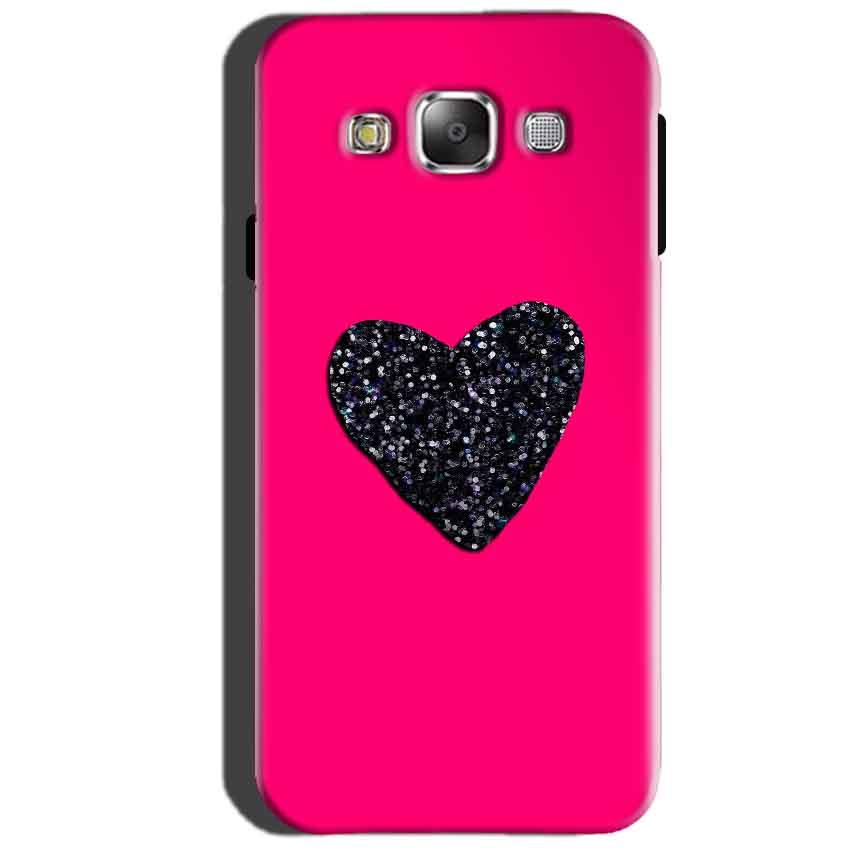 SAMSUNG GALAXY E7 Mobile Covers Cases Pink Glitter Heart - Lowest Price - Paybydaddy.com