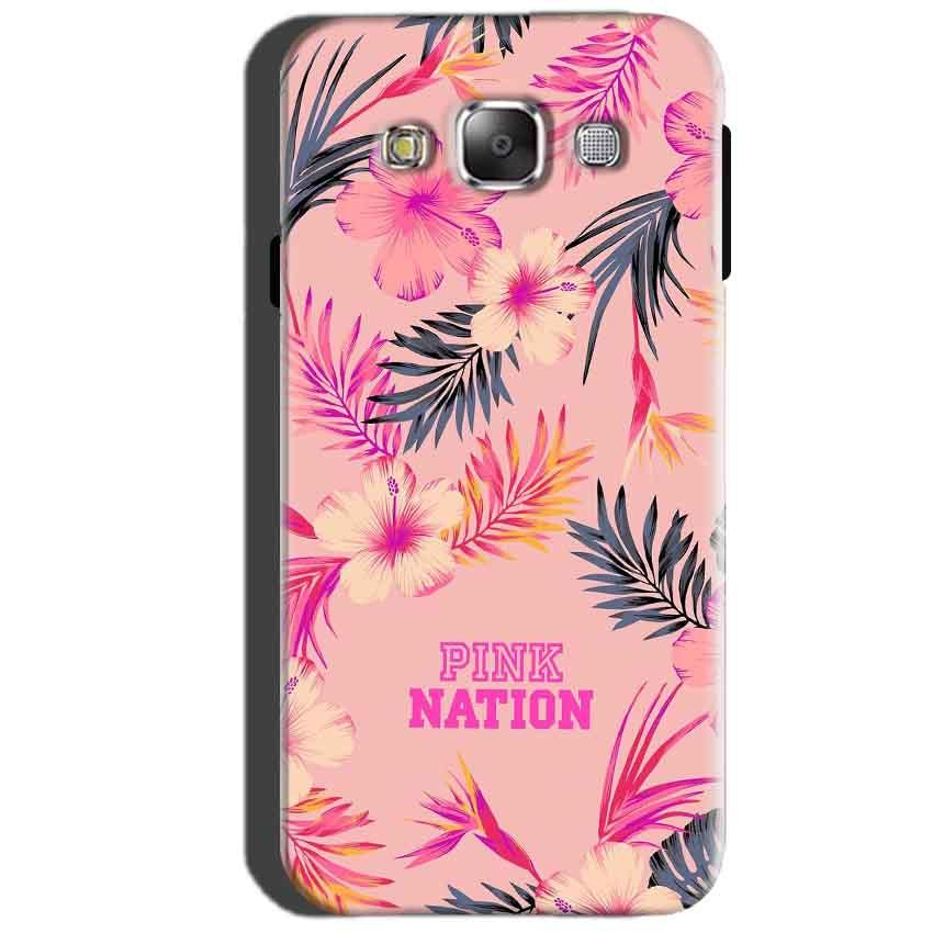 SAMSUNG GALAXY E7 Mobile Covers Cases Pink nation - Lowest Price - Paybydaddy.com