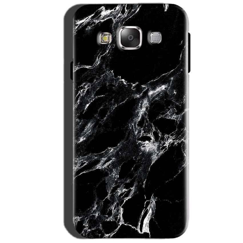 SAMSUNG GALAXY E7 Mobile Covers Cases Pure Black Marble Texture - Lowest Price - Paybydaddy.com