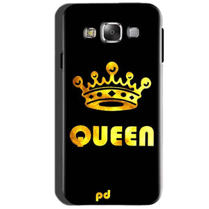 SAMSUNG GALAXY E7 Mobile Covers Cases Queen With Crown in gold - Lowest Price - Paybydaddy.com