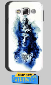 SAMSUNG GALAXY E7 Mobile Covers Cases Shiva Blue White - Lowest Price - Paybydaddy.com