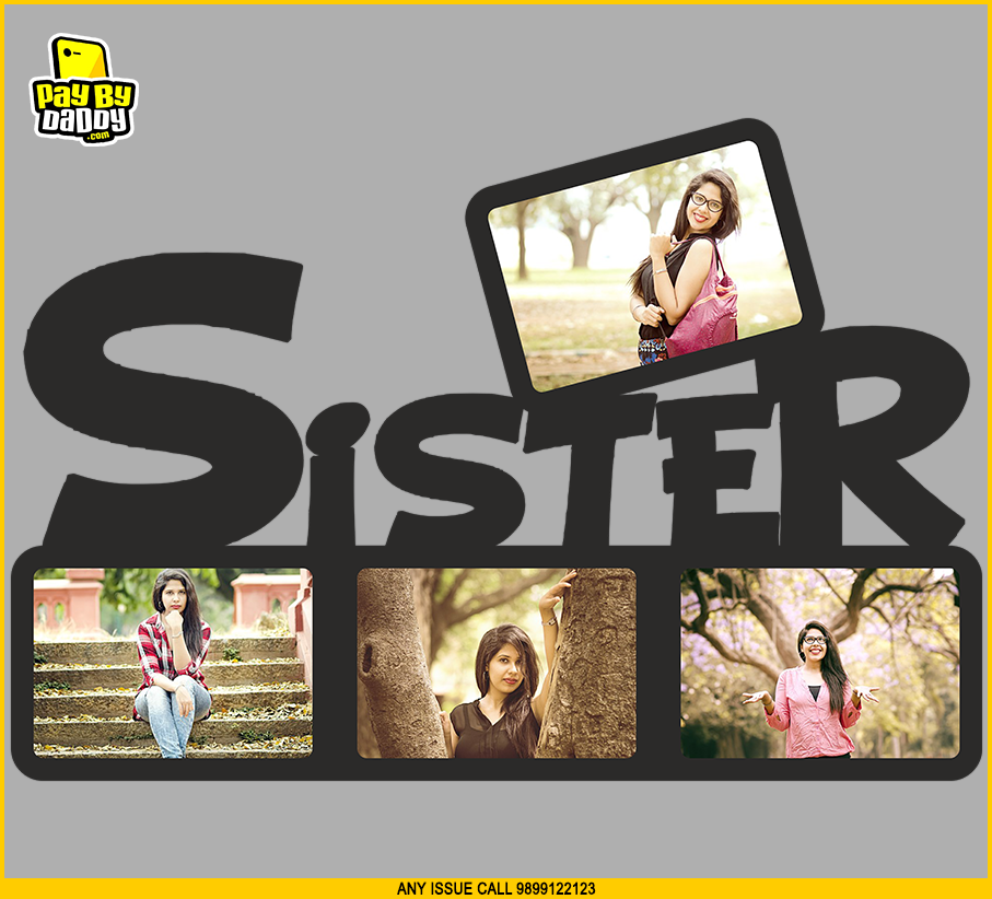 Customised Sister 4 Photos Wooden/Acrylic Photo Frames