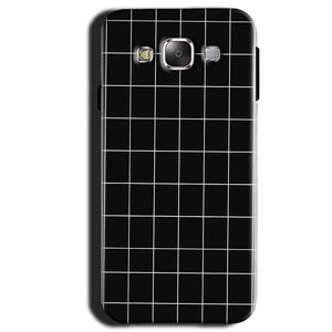 Samsung Galaxy A3 2015 Mobile Covers Cases Black with White Checks - Lowest Price - Paybydaddy.com