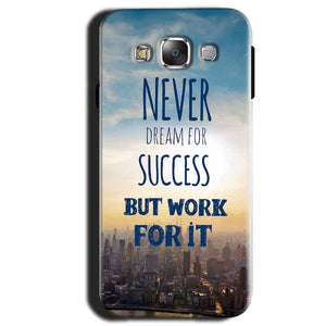 Samsung Galaxy A3 2015 Mobile Covers Cases Never Dreams For Success But Work For It Quote - Lowest Price - Paybydaddy.com