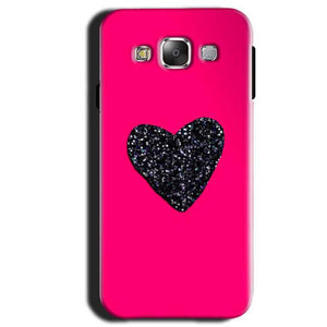Samsung Galaxy A3 2015 Mobile Covers Cases Pink Glitter Heart - Lowest Price - Paybydaddy.com