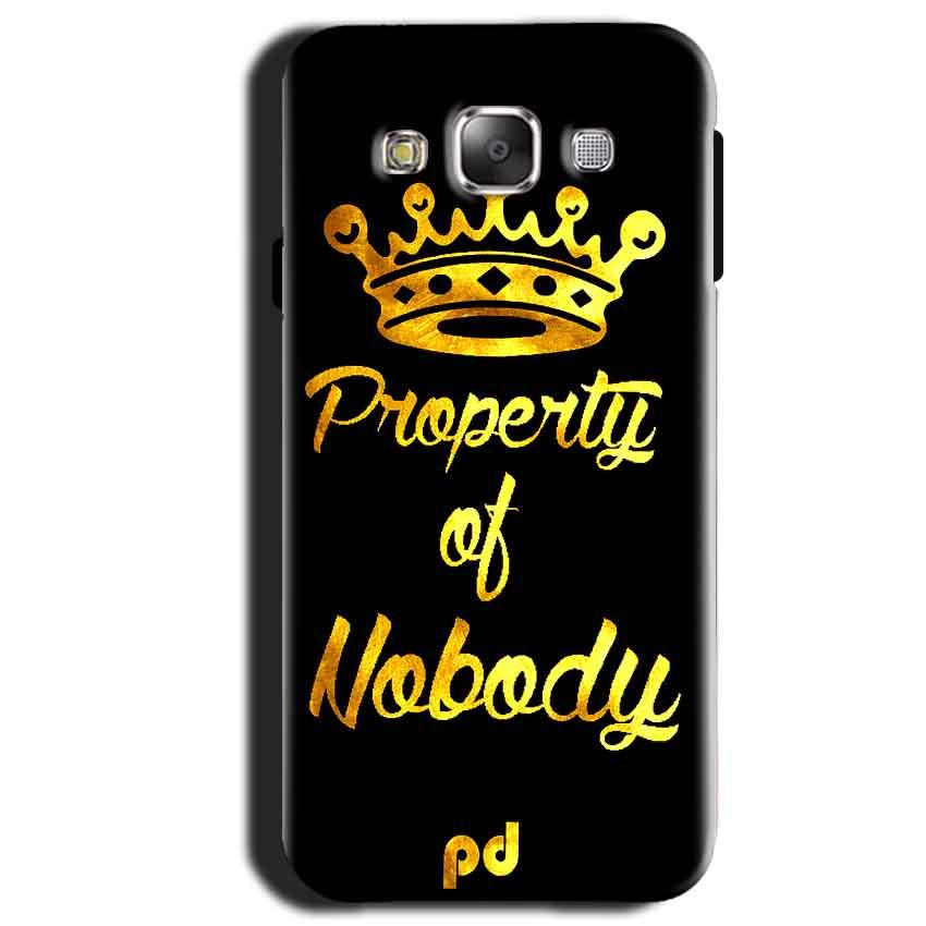 Samsung Galaxy A3 2015 Mobile Covers Cases Property of nobody with Crown - Lowest Price - Paybydaddy.com