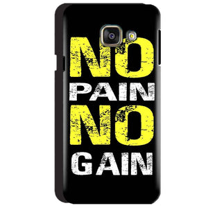 Samsung Galaxy A3 2016 Mobile Covers Cases No Pain No Gain Yellow Black - Lowest Price - Paybydaddy.com