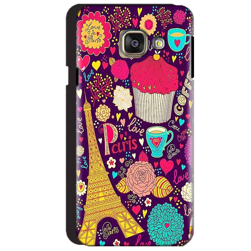 Samsung Galaxy A3 2016 Mobile Covers Cases Paris Sweet love - Lowest Price - Paybydaddy.com