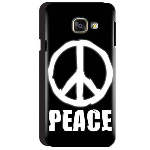 Samsung Galaxy A3 2016 Mobile Covers Cases Peace Sign In White - Lowest Price - Paybydaddy.com