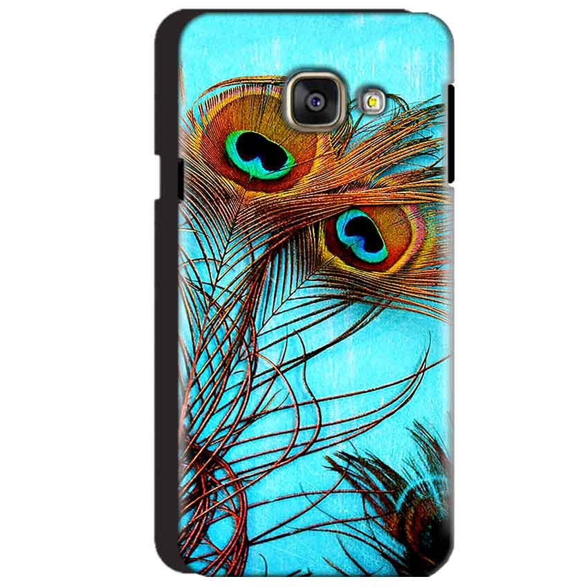Samsung Galaxy A3 2016 Mobile Covers Cases Peacock blue wings - Lowest Price - Paybydaddy.com