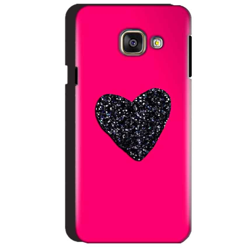 Samsung Galaxy A3 2016 Mobile Covers Cases Pink Glitter Heart - Lowest Price - Paybydaddy.com