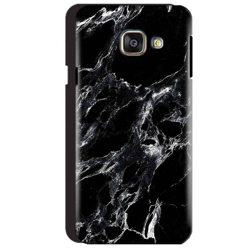 Samsung Galaxy A3 2016 Mobile Covers Cases Pure Black Marble Texture - Lowest Price - Paybydaddy.com
