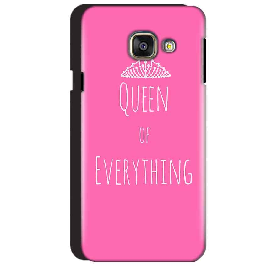 Samsung Galaxy A3 2016 Mobile Covers Cases Queen Of Everything Pink White - Lowest Price - Paybydaddy.com