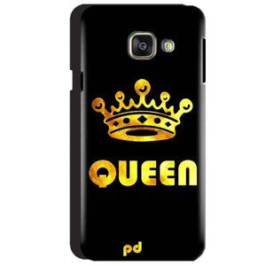 Samsung Galaxy A3 2016 Mobile Covers Cases Queen With Crown in gold - Lowest Price - Paybydaddy.com