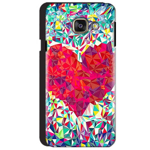 Samsung Galaxy A3 2016 Mobile Covers Cases heart Prisma design - Lowest Price - Paybydaddy.com
