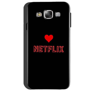 Samsung Galaxy A5 2015 Mobile Covers Cases NETFLIX WITH HEART - Lowest Price - Paybydaddy.com