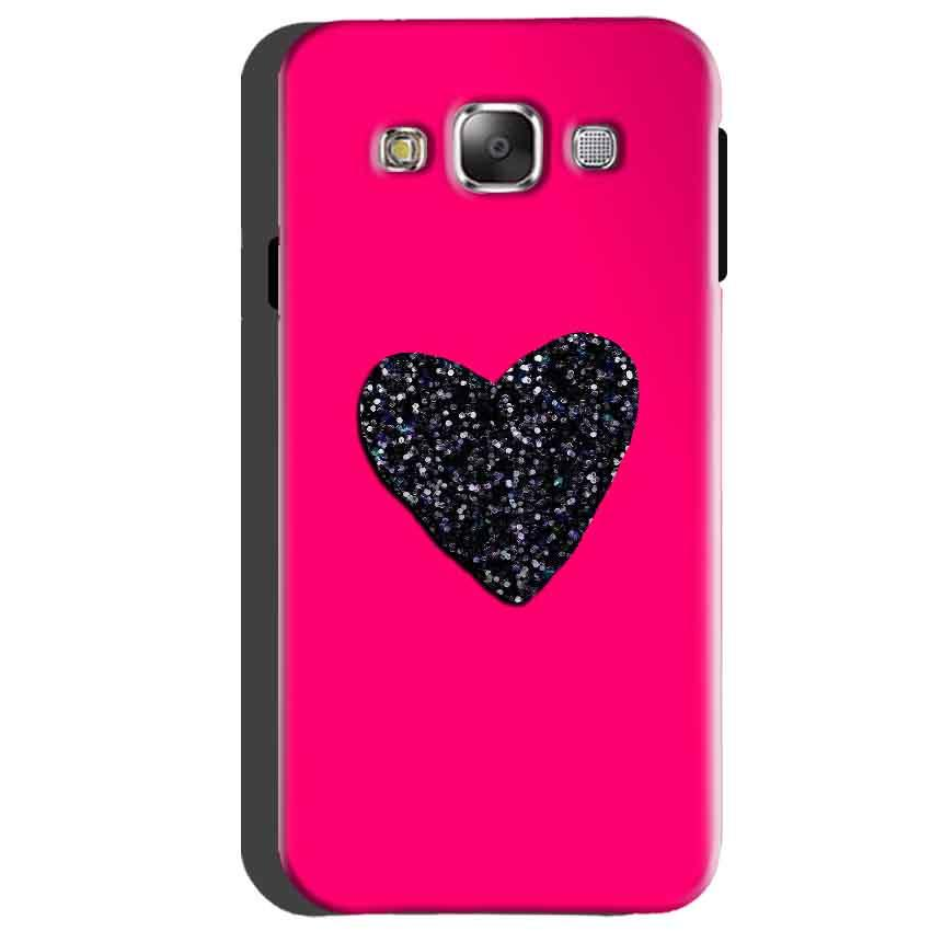 Samsung Galaxy A5 2015 Mobile Covers Cases Pink Glitter Heart - Lowest Price - Paybydaddy.com
