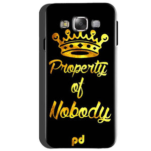 Samsung Galaxy A5 2015 Mobile Covers Cases Property of nobody with Crown - Lowest Price - Paybydaddy.com