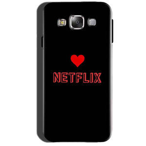 Samsung Galaxy A7 2015 Mobile Covers Cases NETFLIX WITH HEART - Lowest Price - Paybydaddy.com
