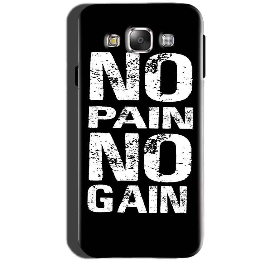 Samsung Galaxy A7 2015 Mobile Covers Cases No Pain No Gain Black And White - Lowest Price - Paybydaddy.com
