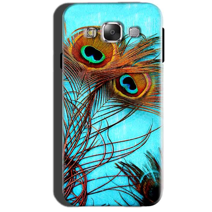 Samsung Galaxy A7 2015 Mobile Covers Cases Peacock blue wings - Lowest Price - Paybydaddy.com